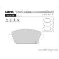 GALFER přední brzdové desky typ FDA 1045 MG ZR 160 1.8i 16V -- rok výroby 01- ( brzdový systém GIR )