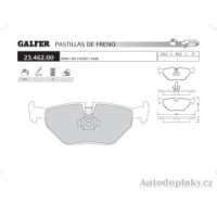 GALFER zadní brzdové desky typ FDR 1065 MG ZT  /  ZT-T Tourer 190 2.5i V6 24V -- rok výroby 01- ( brzdový systém ATE )
