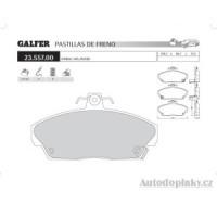 GALFER přední brzdové desky typ FDT 1055 MG ZR 120 1.8i 16V -- rok výroby 01- ( brzdový systém GIR )