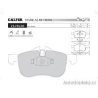 GALFER přední brzdové desky typ FDT 1055 MG ZT  /  ZT-T Tourer 190 2.5i V6 24V -- rok výroby 01- ( brzdový systém ATE )