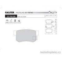 GALFER zadní brzdové desky typ FDA 1045 MG ZR 160 1.8i 16V -- rok výroby 01- ( brzdový systém AKE )